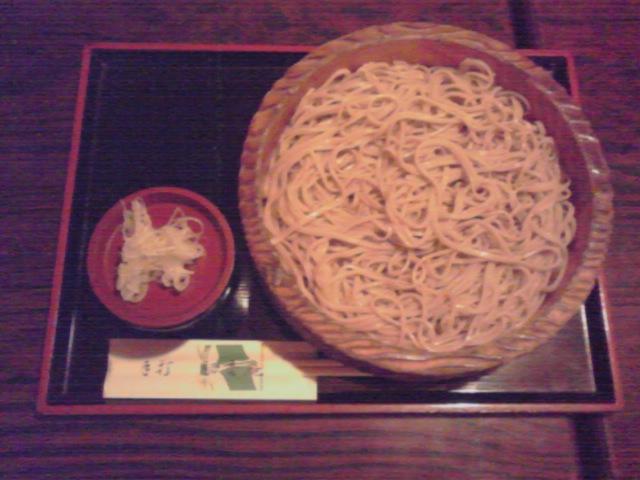 成田市郊外の蕎麦屋