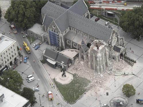 ショックなニュース(ニュージランド南島のクライストチャーチで地震、死傷者多数)