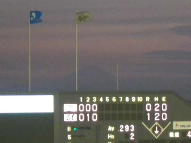 QVCマリンスタジアムで野球観戦中