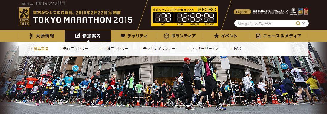 東京マラソン2015の倍率と抽選結果通知日