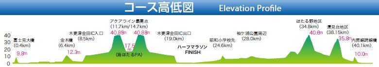 ちばアクアラインマラソンって、坂が多いんですね。