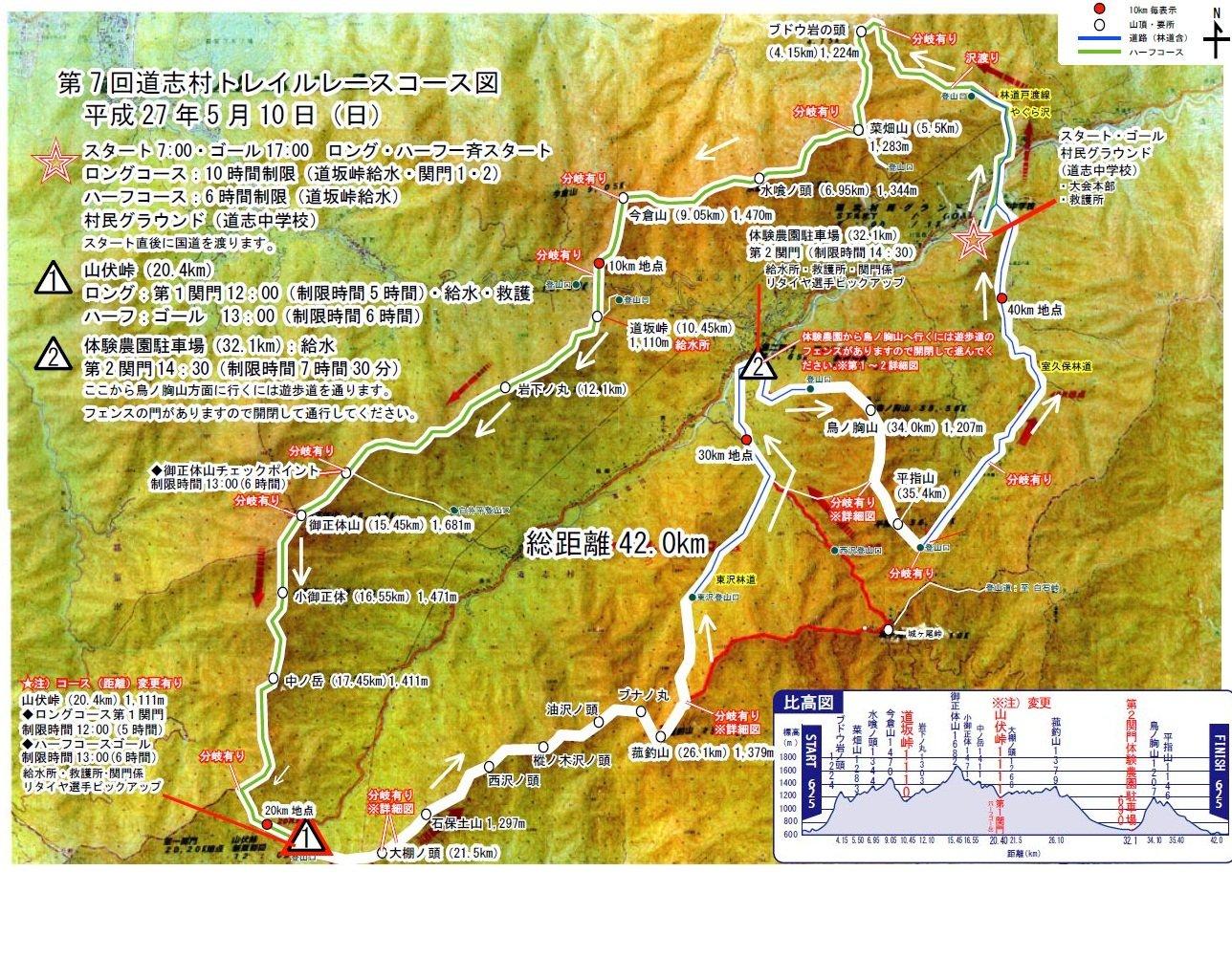 いよいよ道志村トレイルレースですが・・・