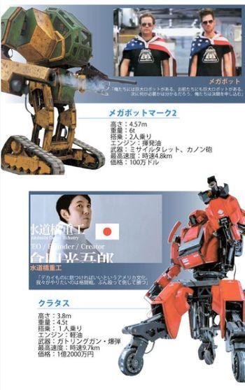 日米巨大ロボットでの決闘が実現か?